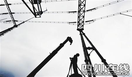 映秀镇二台山变电站提前4个半月投运