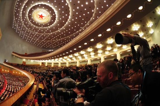 图文:十一届全国人大三次会议举行闭幕会