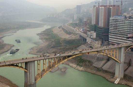 组图:乌江水位下降重庆段基本断航