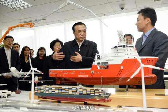 李克强在天津滨海新区考察