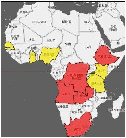 cnn列中国印度在非洲贸易版图(图)