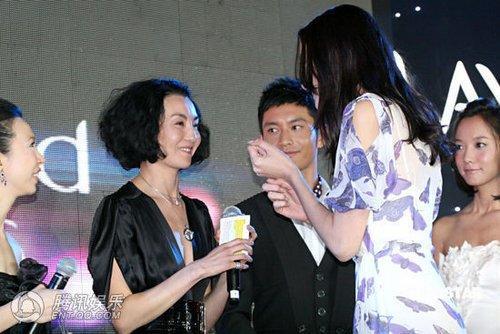 张曼玉林志玲尴尬陪酒