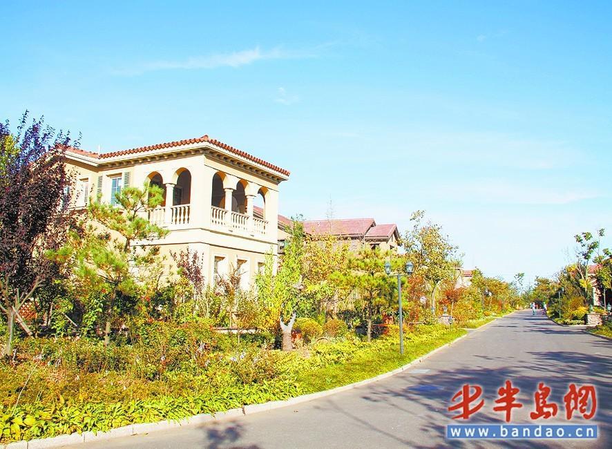 即墨温泉镇的许多别墅被各地的顾客买来作为养老房.