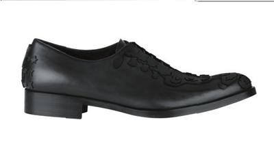 黑色印花皮鞋givenchy