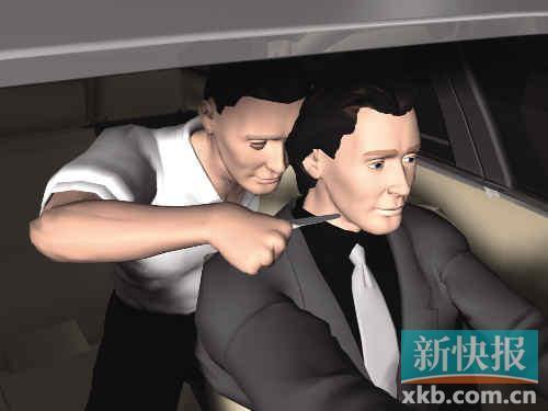 ■上车后从后绑架当事者。