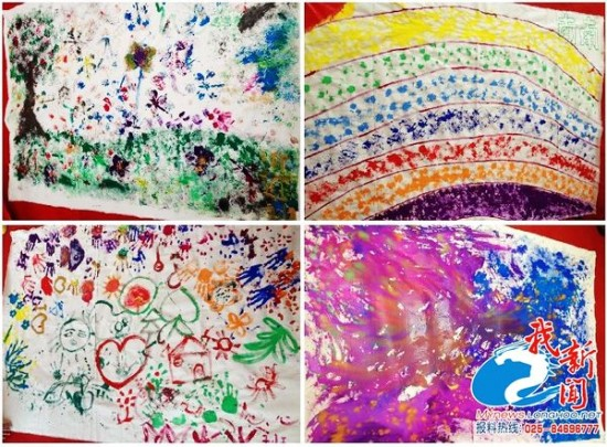 南京明心孤独症幼儿园孩子的涂鸦作品