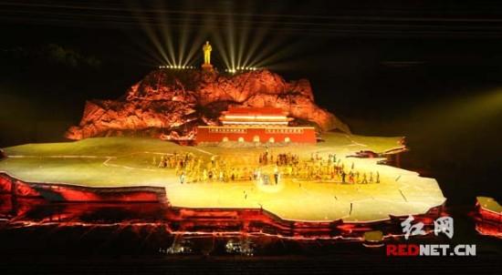 湖南成功打造首部红色实景剧:《中国出了个毛泽东》