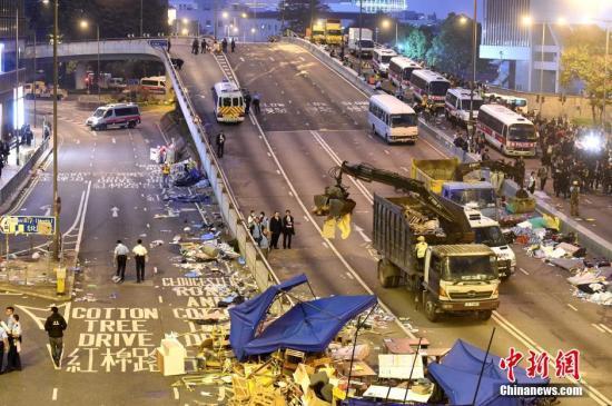 """港媒:""""占中""""代价沉重香港市民渴求安静生活"""