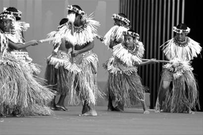 马绍尔群岛馆日举行 古老棍舞惊艳园区
