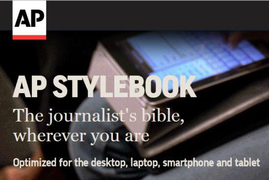美联社写作指南(AP STYLEBOOK)被当做是媒体人的工具书。