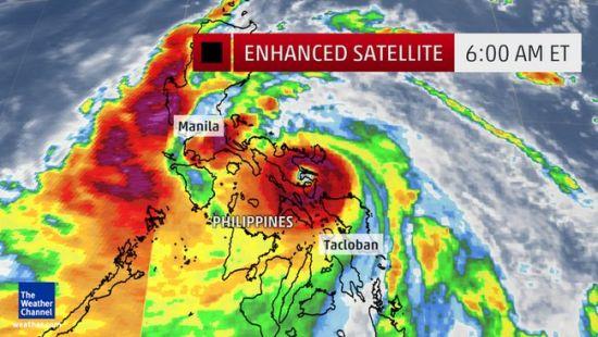 """从卫星云图上看,""""威马逊""""即将登陆菲律宾-威马逊 即将在菲律宾中图片"""