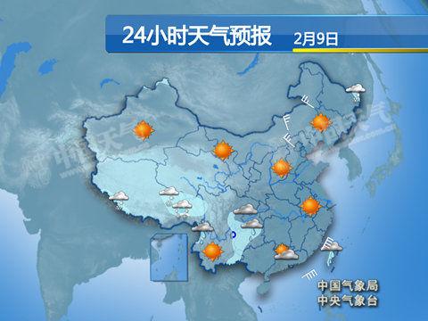 24小时天气预报-全国大部升温 河南湖北最高超15