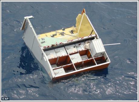 新发现的失事法航客机厨房残骸