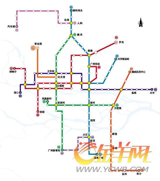 未来6年地铁一号线至九号线以及十三号线示意图春