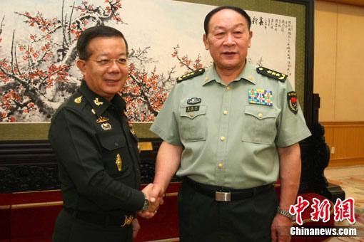 梁光烈会见泰国国防部次长 _新闻中心_新浪网