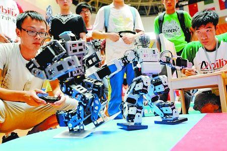 智能机器人洛阳打擂台