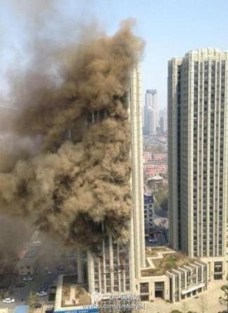 大连星海广场公寓楼火灾被扑灭暂无人员伤亡报告