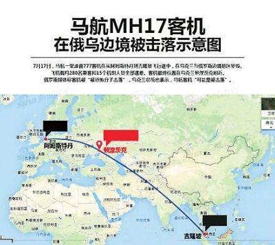马航客机在乌被击落295人遇难