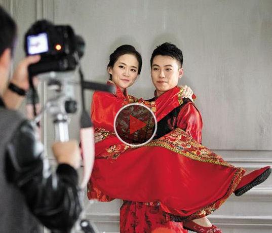 """韩国推""""韩流""""特色婚纱照吸引中国消费者"""