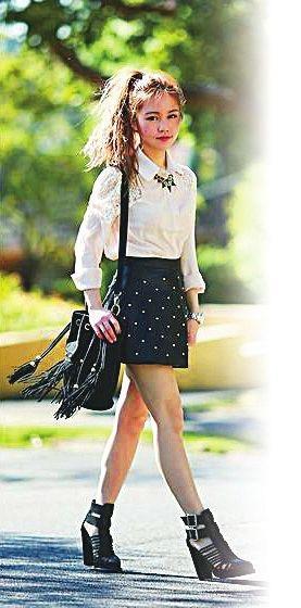 女孩身高一米四 搭配服装时尚范