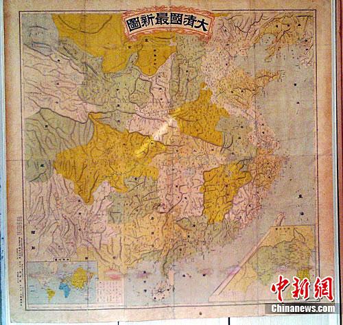 日本百年前清朝地图将我国东北划入势力范围
