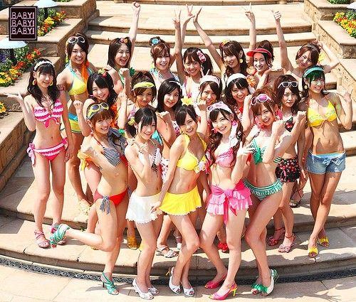 日本组合akb48美少女照片遭非法使用变广告图