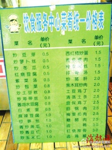 """厦大食堂菜单""""便宜到发指"""" 南林大食堂人均消费6元(图"""
