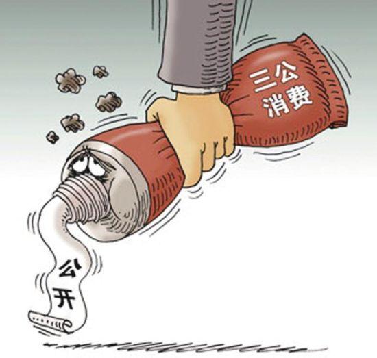 """""""三公""""经费跳水"""
