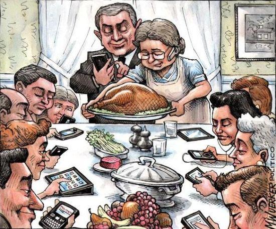 家庭聚餐儿孙全在玩手机 老人一怒摔盘子离席
