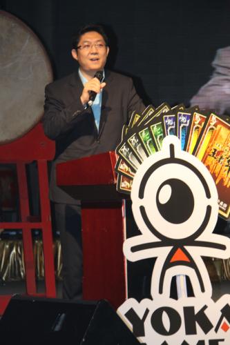 游卡桌游CEO杜彬讲话
