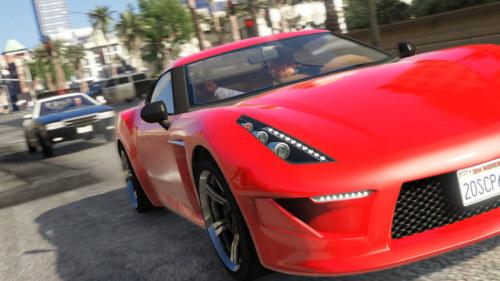 GTA5 新图公布 奢华跑车街头狂奔图片