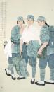 高云作品《还记得我们吗――纪念新四军建军80周年》195x115获全国美展提名奖,被中国美术馆收藏
