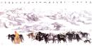 高原行旅 2005年 136cmx68cm 纸本设色 纪连彬