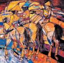 1993年《金色黄昏》68×68cm