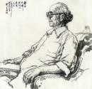 艺术大师吴作人先生 100cm×100cm 1987年