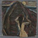 1985年 《潮・海那边》 油画 120x120cm