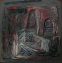 1988年 《生命系列X》 油画 131x131cm
