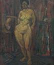 1988年 《女人体》油画 117x97cm