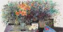 《春风一》彩墨2012年 65cm×136cm