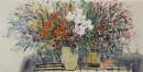 《春艳怡人之三》彩墨2012年 65cm×136cm