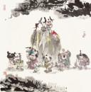 傅小石-寿星与顽童