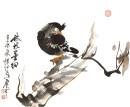 2012年萧平小品《秋枝墨羽》46x34