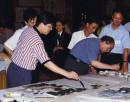1996rh 与宋文治先生共同挥毫合作于金陵饭店