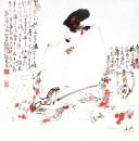 30唐人诗意 68cm×68cm (2)1998