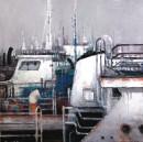 中国渔政2号90x90cm 2013年布面油画