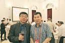 与国民党中央常务委员邱毅教授在酒会上