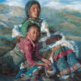陈逸飞作品赏析:《母与子》