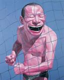 岳敏君作品欣赏 《拳头》 2005年作