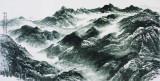 空山寂寥,136x68cm,中国画,2011年,许钦松