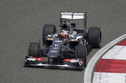 图文-F1中国站周五练习赛 索伯车队霍肯伯格